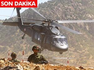 Kağızman'da askeri helikoptere saldırı