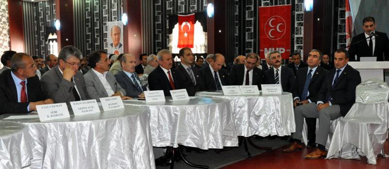 MHP'li başkanlar Erzurum'da