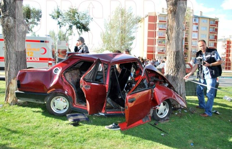 Erzurum'da trafik kazası 1 ölü 4 yaralı