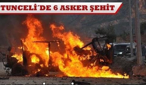 Hain tuzak 6 şehit