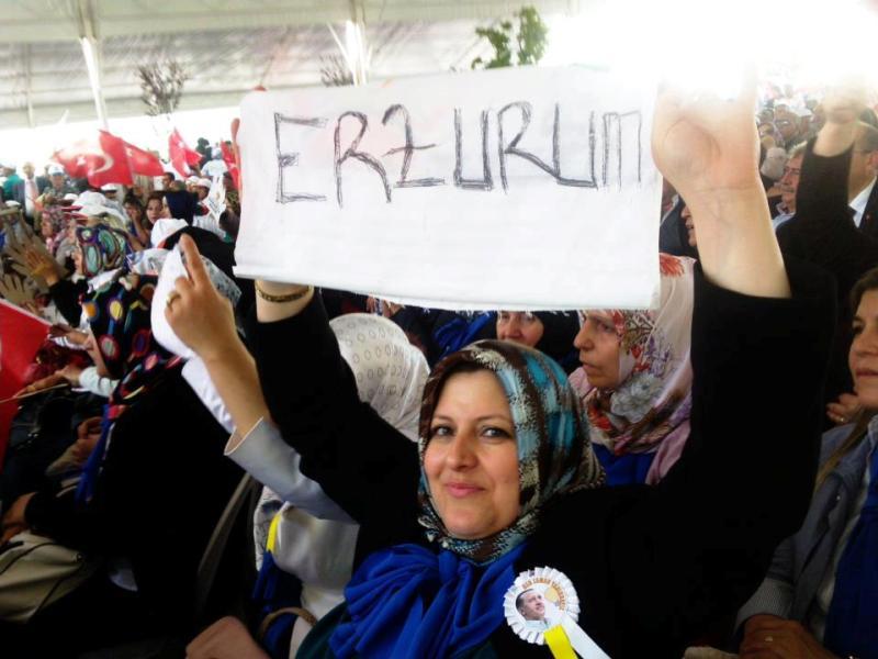 Genel Kurula Erzurum damgası