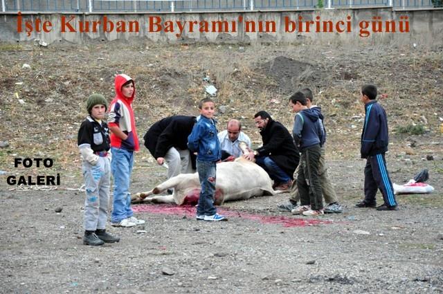 Erzurum'dan bayram manzaraları