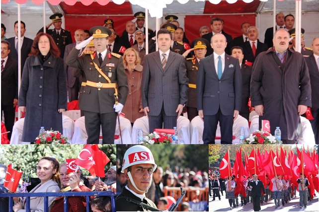Cumhuriyet Bayramı Erzurum'da coşkuyla kutlandı