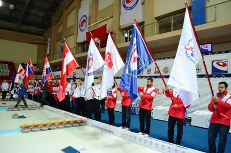 38 Avrupa Curling takımı Erzurum'da