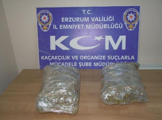 Uluslar arası uyuşturucu trafiğine Erzurum'da darbe
