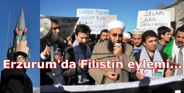 Erzurum'dan Filistin'e destek…