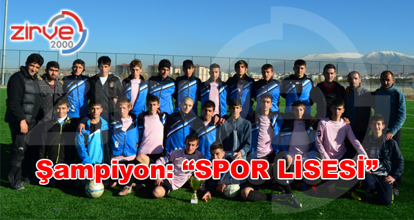 Liselerarası Futbol Turnuvası Birincisi Spor Lisesi Oldu