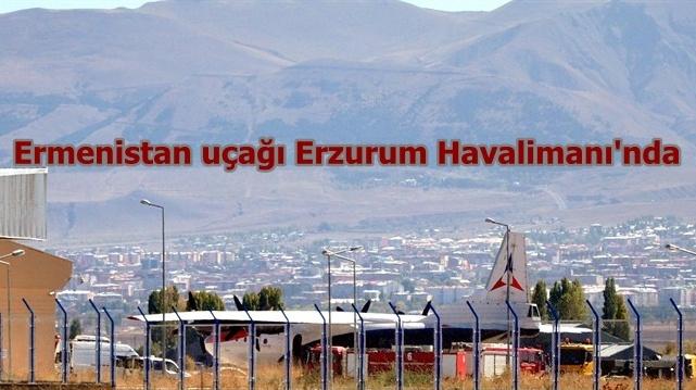 Ermenistan uçağı ikinci kez Erzurum'a indirildi