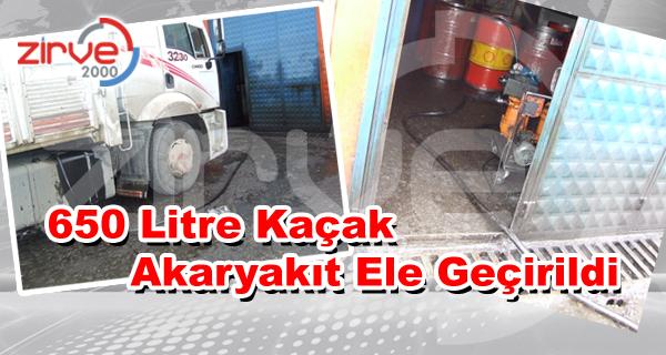 Erzurum'da 650 Litre Kaçak Akaryakıt Ele Geçirildi !