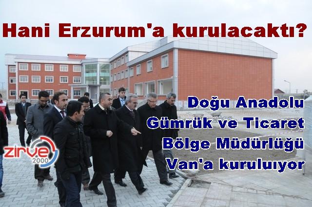 Erzurum Van'a bağlanacak…