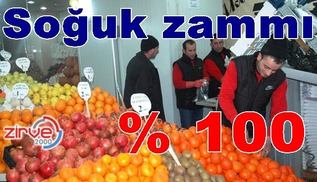 Meyve sebze fiyatları uçtu