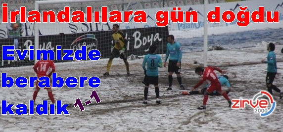 Kar güzel futbola engel oldu