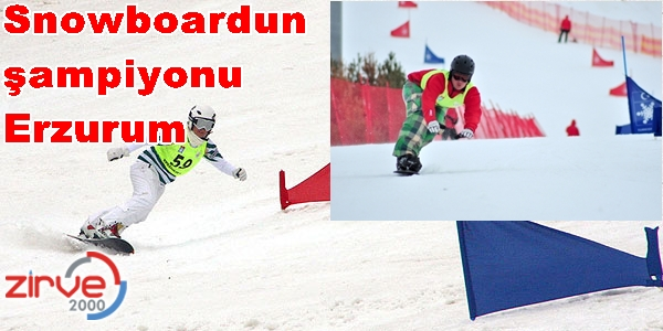 'Snowboard Türkiye Şampiyonası'  sona erdi