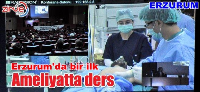 Ameliyathaneden konferans verdi