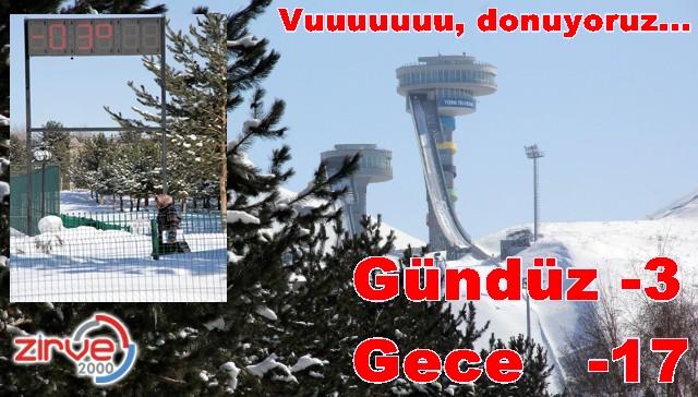 Erzurum saat 12.30 hava -3 derece