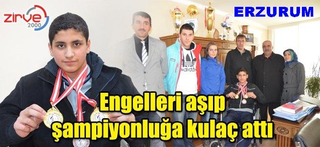 Erzurum'a Türkiye şampiyonluğu kazandırdı