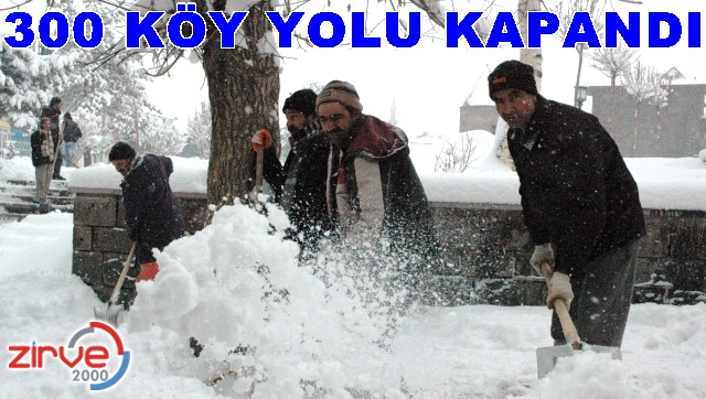 Erzurum kar'a teslim…