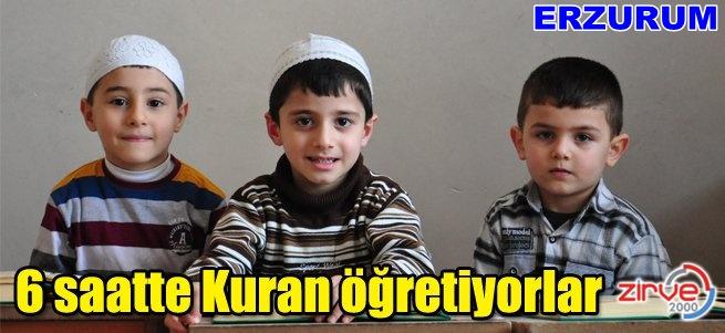 Büyük küçük herkes Kuran öğreniyor
