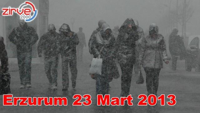 Erzurum yoğun kar tipiye mahkum…