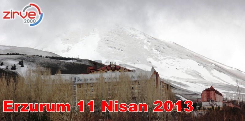 Erzurum'a Nisan karı…