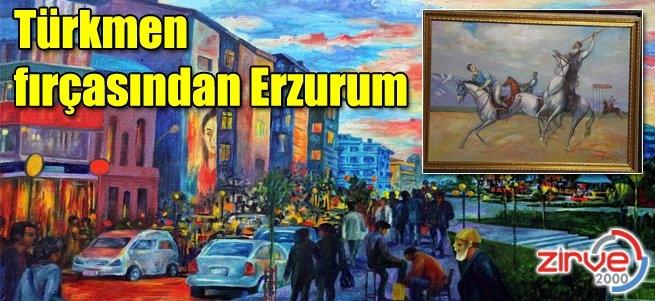 Erzurum'un 57 ayrı resmini yaptılar