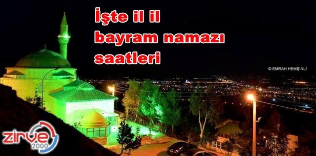 En erken Erzurum'da kılınacak