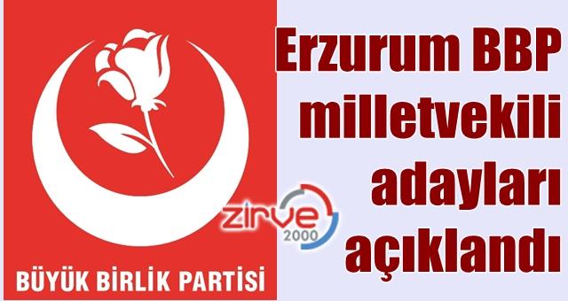 BBP'nin Erzurum adayları…