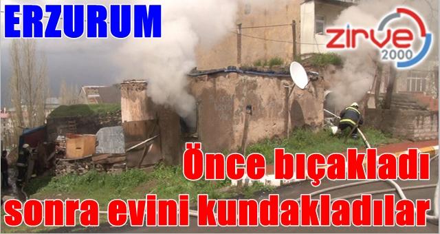 Erzurum güne olaylı başladı