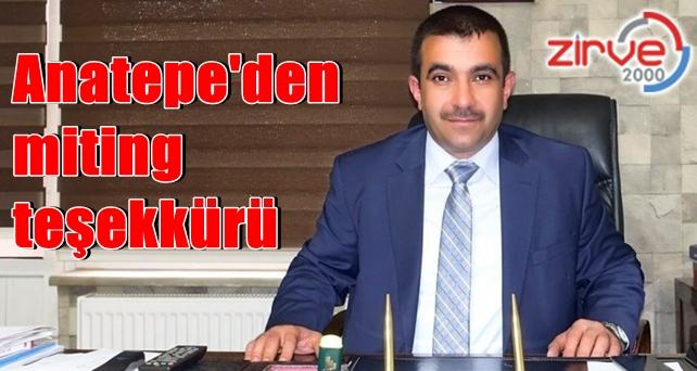MHP İl Başkanı Anatepe, teşekkür etti