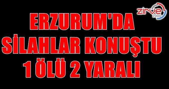 Erzurum'da silahlı çatışma