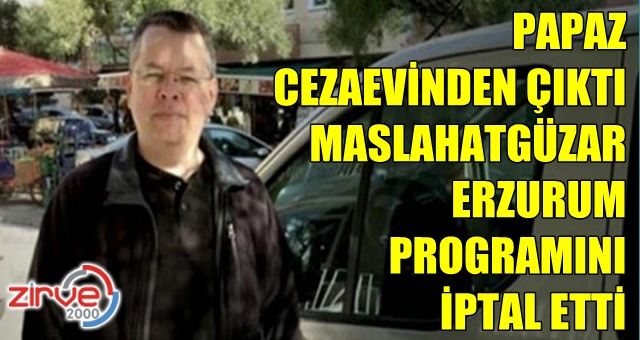 Erzurum programı iptal edildi