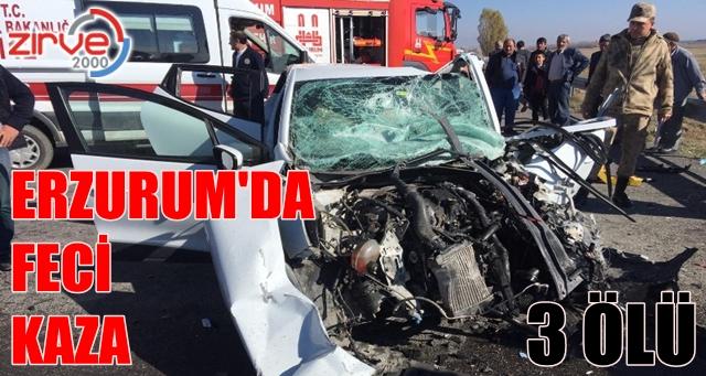 Otomobil TIR'la çarpıştı