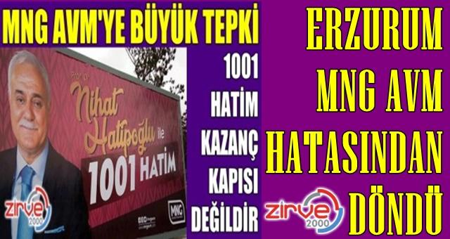 Erzurum MNG hatasından döndü