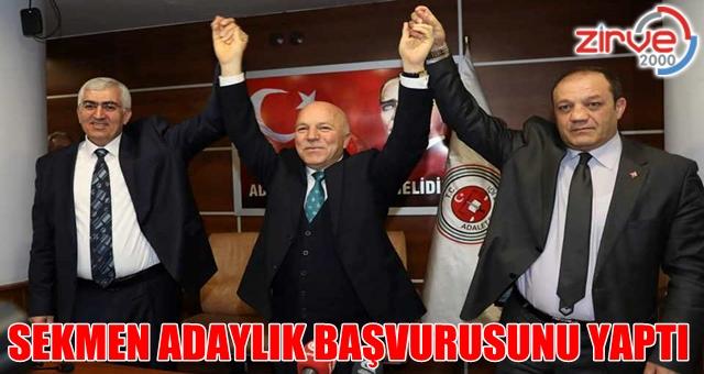 Mehmet Sekmen resmi başvurusunu yaptı
