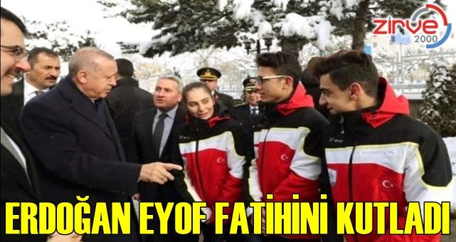 Erdoğan EYOF fatihini kutladı