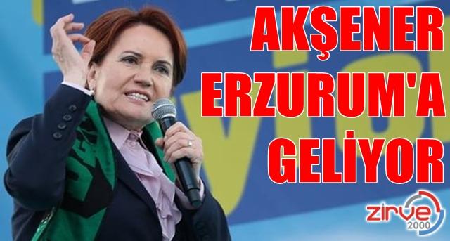 Akşener'in Erzurum programı belli oldu