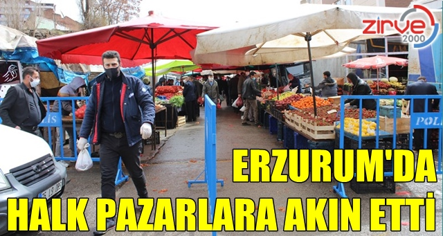 Sokağa çıkma yasağı öncesi vatandaşlar pazarlara akın etti
