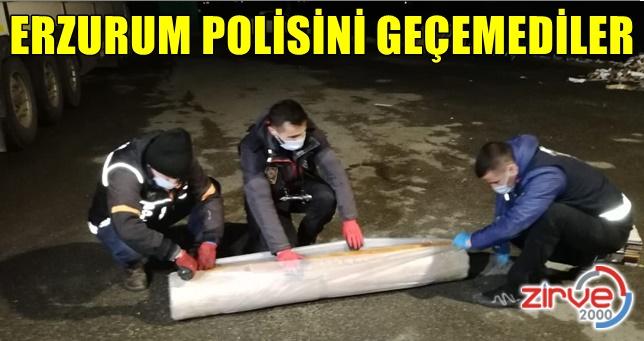 Erzurum polisini geçemediler