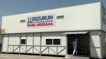 Erzurum, Kurban Bayramı nda mobil mezbahalarla