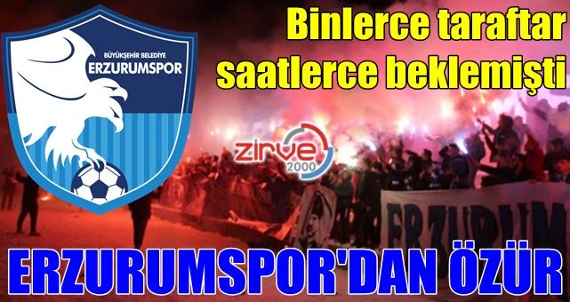 BB Erzurumspor'dan özür