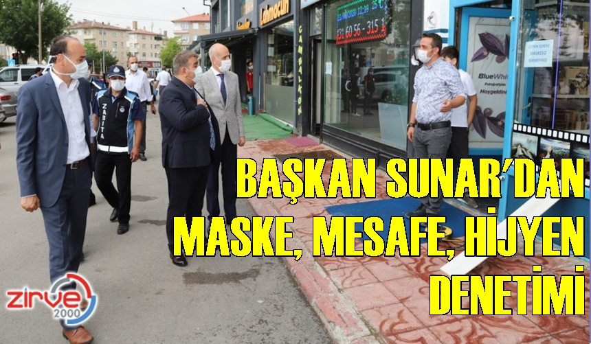 PALANDÖKEN'DE MASKE, MESAFE,TEMİZLİK DENETİMİ