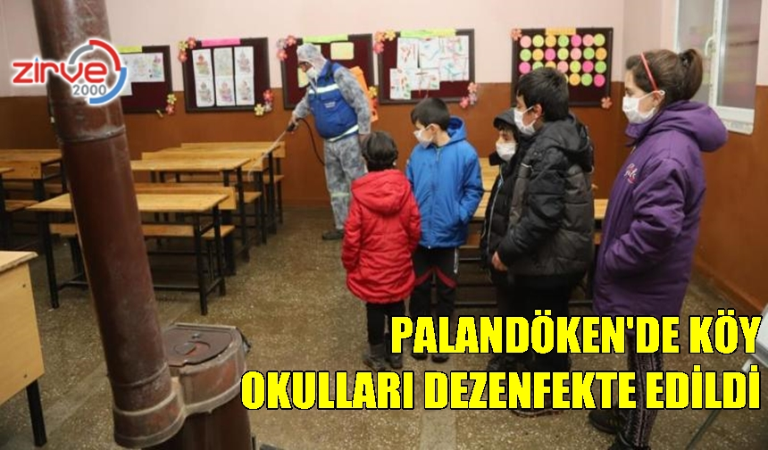 PALANDÖKEN'DE OKULLAR EĞİTİME HAZIR