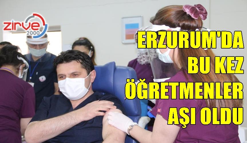 Milli Eğitim Müdürü ve 4 köy öğretmeni Covid-19 aşısı oldu