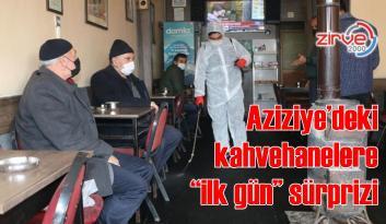 AZİZİYE'DE DEZENFEKTE DEVAM EDİYOR