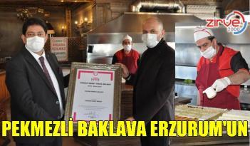 Erzurum coğrafi işaretli ürünlerine pekmezli baklavayı da ekledi