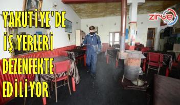 Uzun bir aradan sonra açılan iş yerleri dezenfekte ediliyor