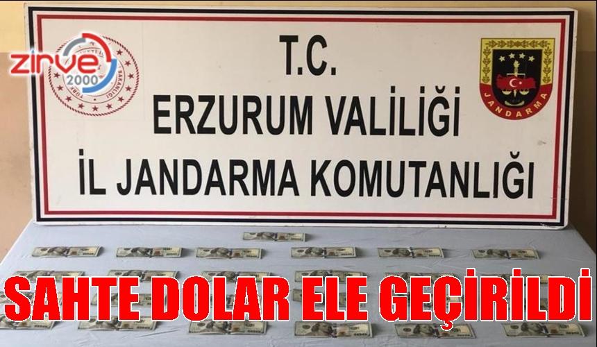 ERZURUM'DA SAHTE DOLAR ELE GEÇİRİLDİ