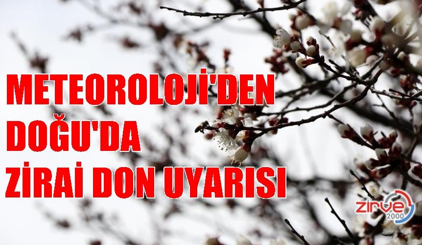 Doğu Anadolu'da zirai don uyarısı