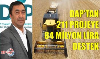 DAP'tan, 2021 yılında, 211 projeye 84 milyon lira destek
