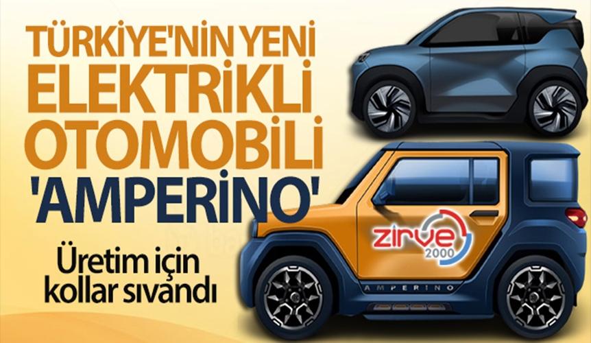 """Türkiye'nin yeni elektrikli otomobili """"Amperino"""""""